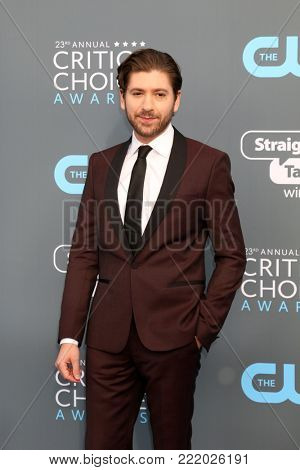 LOS ANGELES - JAN 11:  Michael Zegen at the 23rd Annual Critics' Choice Awards at Barker Hanger on January 11, 2018 in Santa Monica, CA