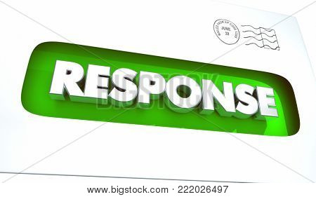 Response Direct Mail Feedback Answer Letter 3d Illustration
