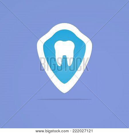Dent care icon. Dental logotype design illustration