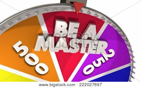 Be a Master Top Best Expert Game Show Wheel 3d Illustration