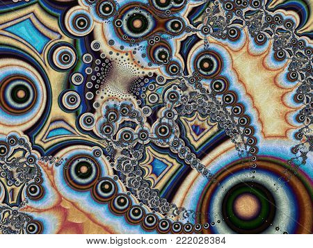 Abstract Bright Pearl Beaded Background   - Fractal Art