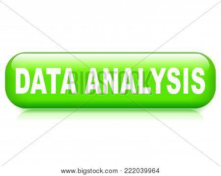 Illustration of data analysis button on white background