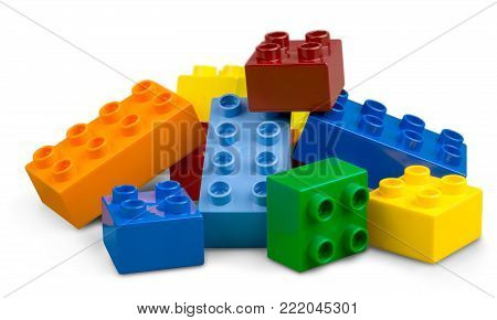 Color colorful toy blocks toy blocks plastic blocks game
