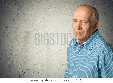 Man senior portarait senior adult senior citizen grey hair old age