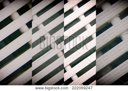 Abstract mesh background White color Modern plastic Dashed lines