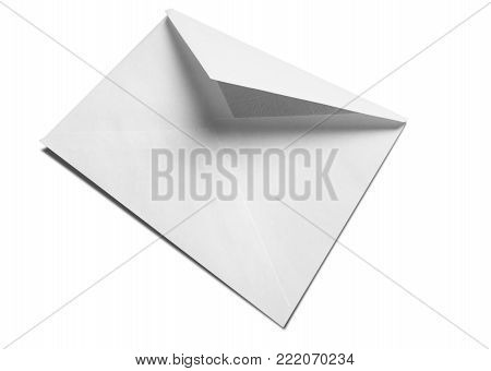 White blank envelope envelop business card letter head background
