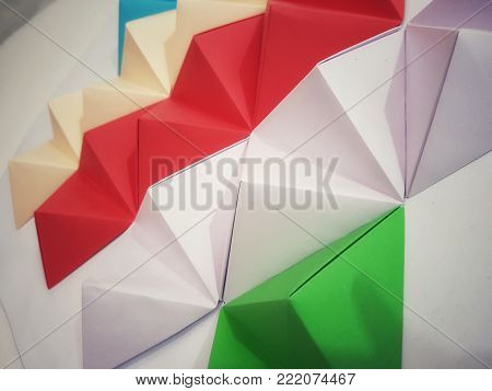 Some beautifull colourfull geometric paper wall art