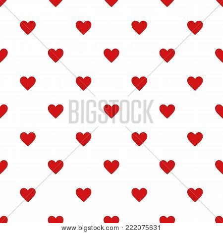 Seamless pattern with heart. .Seamless pattern included in swatch panel.Vector background.