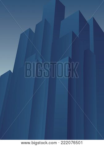 Huge high rise skyscraper district vector background. Symbol of corporation, moguls, tycoons, evil, corrupt, negative financial institutions. Eps10 vector illustration.