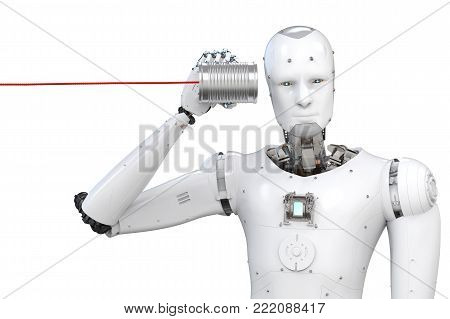 Robot With Tin Can
