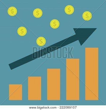 Rating illustration.Flat design.Product rating poster on a blue background