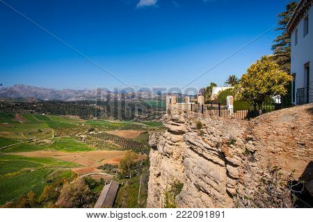 Ronda, Malaga Province, Andalusia, Spain - Puente Nuevo (new Bridge)