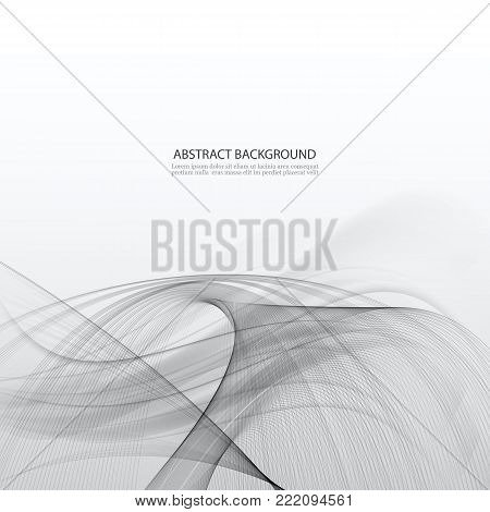 Abstract hi-tech wave modern background futuristic cool layout. Vector illustration
