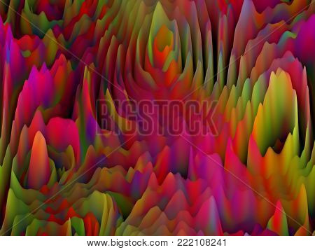 Abstract  Extraterrestrial Mountain Range Pattern -  Seamless Background