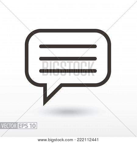 Message flat Icon. Sign message. Vector logo for web design, mobile and infographics. Vector illustration eps10. Isolated on white background.