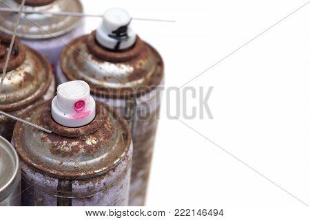 Household Hazardous Waste - aerosol cans isolated