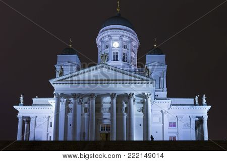 Renowned Places and Tourist Destinations. Old Lutheran Cathedral in Helsinki, Finland.Horizontal Image