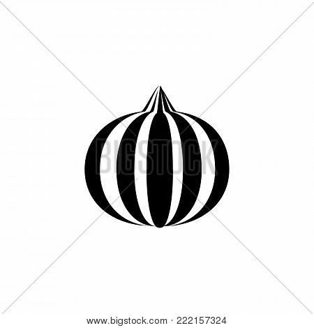 onion Icon in trendy flat style isolated on white background. symbol for your web site design logo, app, UI. Flat design Vector Illustration EPS