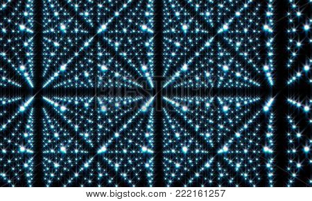 Abstract Infinite  Perspective - Brilliance Hud Background