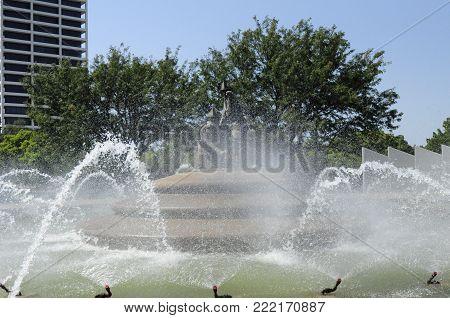 Fireman water fountain in Kansas City Missouri