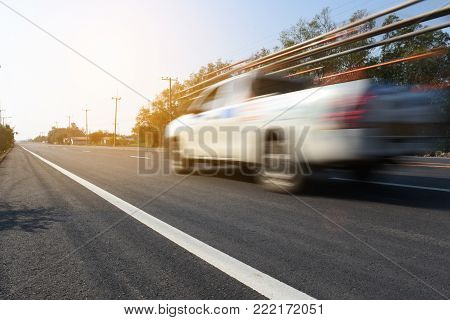Car truck on road,Car truck driving on street,Car truck driving on high way road