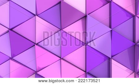 Pattern Of Purple Triangle Prisms