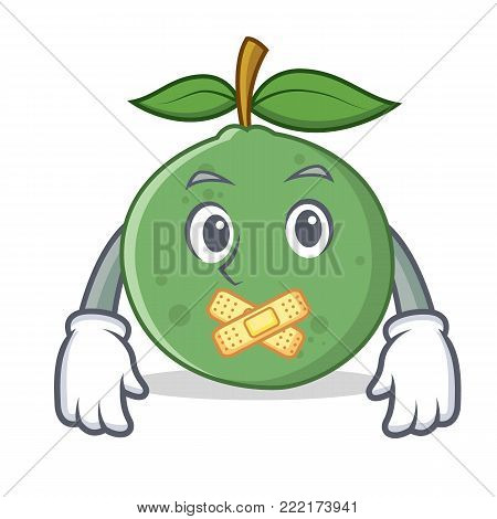Silent guava mascot cartoon style vector illustration