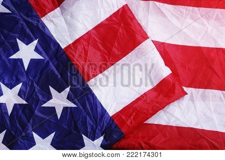 Screwed Up USA Flag. America Flag Background for MLK Day, President's Day, Patriot Day, 4th of July, Independence Day.