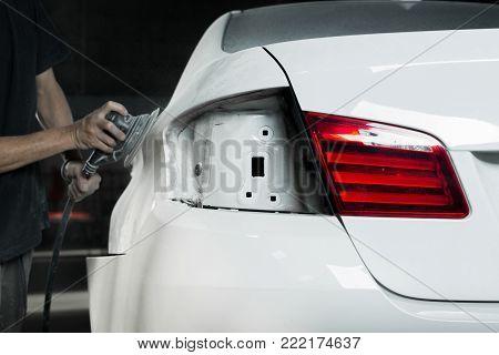 Auto Body Repair Series: Sanding White Car Paint