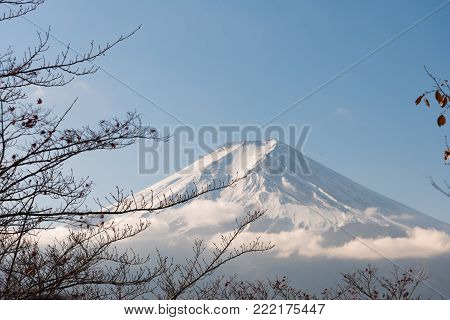 Fujisan (Fuji mountain) is a volcanic mount revered as sacred and inspirational,View of Mount Fuji, Japan.