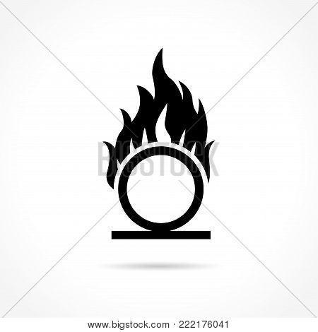 Illustration of oxidizer icon on white background
