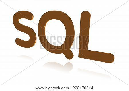Programming Term - Sql - Structured Query Language -  3d Image