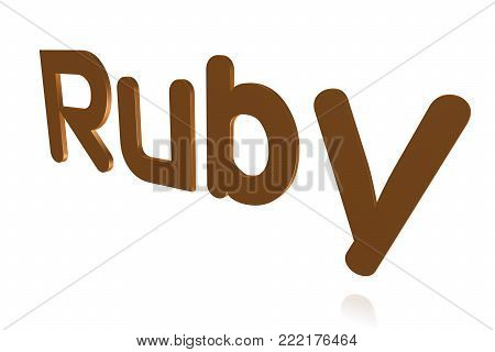 Programming Term - Ruby - Object-oriented Programming Language -  3d Image