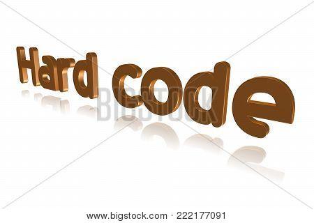 Programming Term - Hard Code  -  3d Image