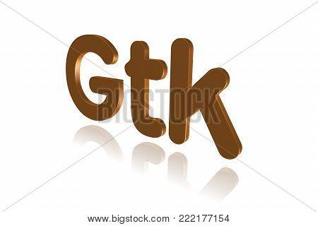 Programming Term - Gtk  - Gimp Toolkit - 3d Image