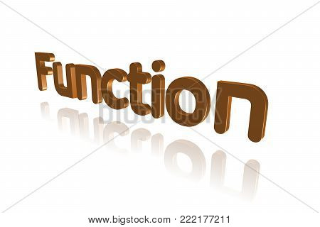 Programming Term - Function  - 3d Image