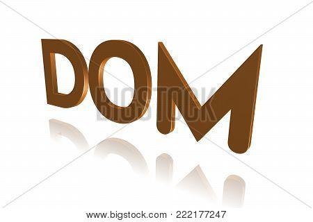 Programming Term - Dom - Document Object Model - 3d Image