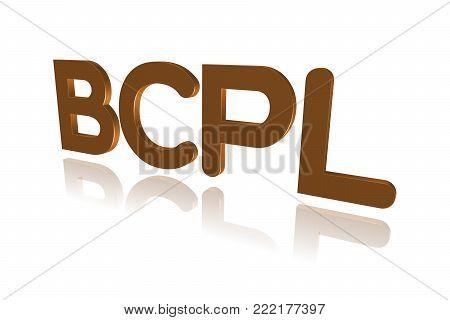 Programming Term - Bcpl - Basic Combined Programming Language - 3d Image