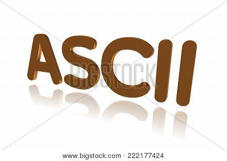 Programming Term - Ascii - American Standard Code For Information Interexchange - 3d Image