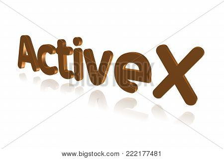 Programming Term - Activex - Extension To  Ole And Com Technologies - 3d Image