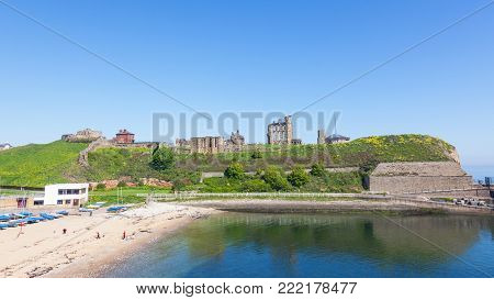 Overlooking the North Sea and the River Tyne, Tynemouth Castle and Priory, on the coast of North East England, was once one of the largest fortified areas in England.