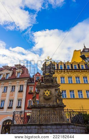 Pillar of the Holy Trinity or Plague pillar, Karlovy Vary - Czech Republic