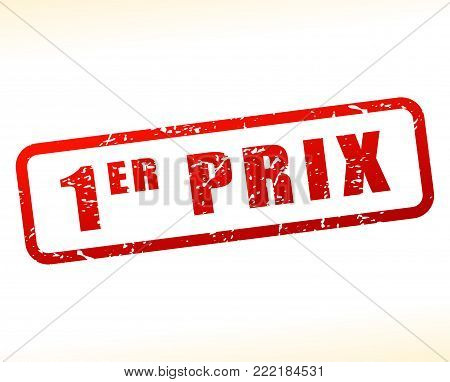 Illustration of first price buffered on white background