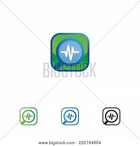rounded corner search for health icon or logo