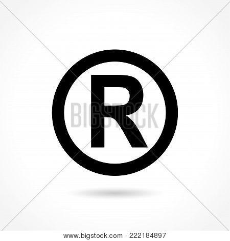 Illustration of trademark icon on white background