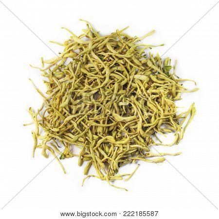 Flos Lonicerae, chinese herbal medicine isolated. Jin Yin Hua