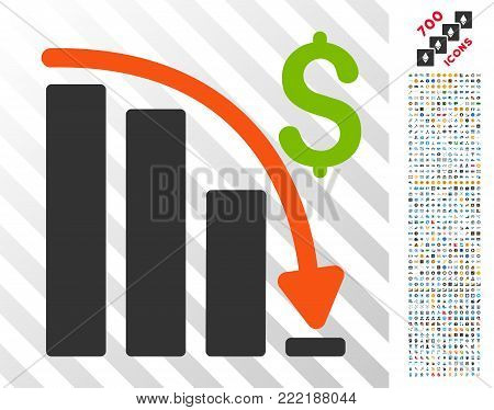Default Crisis Fail pictograph with 7 hundred bonus bitcoin mining and blockchain pictures. Vector illustration style is flat iconic symbols design for crypto-currency websites.