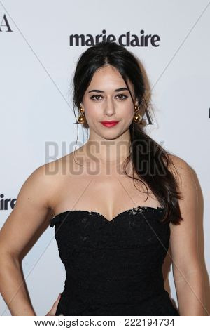 LOS ANGELES - JAN 11:  Jeanine Mason at the Marie Claire Image Makers Awards 2018 at the Delilah on January 11, 2018 in West Hollywood, CA
