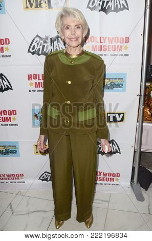 LOS ANGELES - JAN 10:  Barbara Rush at the Batman '66 Retrospective and Batman Exhibit Opening Night at the Hollywood Museum on January 10, 2018 in Los Angeles, CA