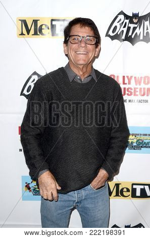 LOS ANGELES - JAN 10:  Anson Williams at the Batman '66 Retrospective and Batman Exhibit Opening Night at the Hollywood Museum on January 10, 2018 in Los Angeles, CA